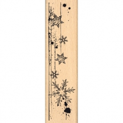 Tampon bois BORDURE DE PAGE par Florilèges Design. Scrapbooking et loisirs créatifs. Livraison rapide et cadeau dans chaque c...