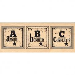 Tampon bois CADRES ABC par Florilèges Design. Scrapbooking et loisirs créatifs. Livraison rapide et cadeau dans chaque commande.