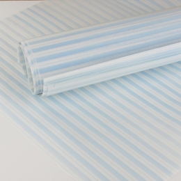Papier ciré rayé bleu