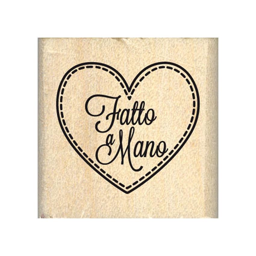 Commandez Tampon bois italien CUORE FATTO A MANO Florilèges Design. Livraison rapide et cadeau dans chaque commande.