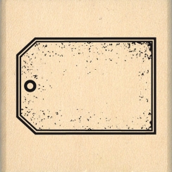 Tampon bois italien PICCOLO TAG par Florilèges Design. Scrapbooking et loisirs créatifs. Livraison rapide et cadeau dans chaq...