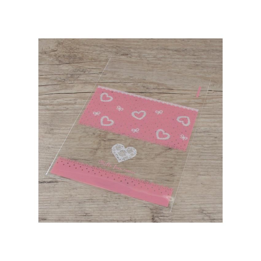 PROMO de -60% sur Sachets cristal roses Mille fois merci Cook and Gift