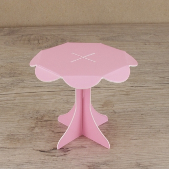 Mini présentoirs à cupcake roses