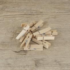 Petites pinces à linge bois brut