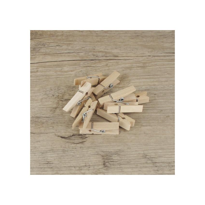 PROMO de -99.99% sur Petites pinces à linge bois brut (x10) Cook and Gift