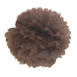 Pompon 30 cm chocolat