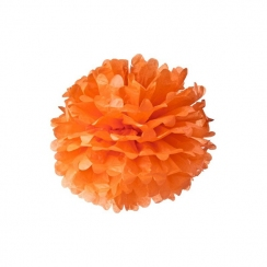 Pompon 30 cm orange