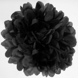 Pompon 30 cm noir