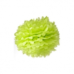 Pompon 30 cm vert