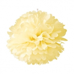Pompon 30 cm crème