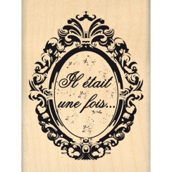 PROMO de -99.99% sur Tampon bois OVALE BAROQUE Florilèges Design