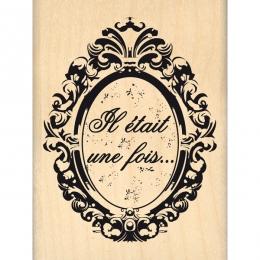 Tampon bois OVALE BAROQUE par Florilèges Design. Scrapbooking et loisirs créatifs. Livraison rapide et cadeau dans chaque com...