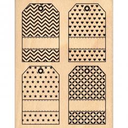 PROMO de -40% sur Tampon bois QUATRE TAGS Florilèges Design