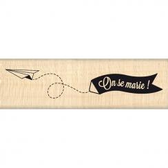 Tampon bois BANNIÈRE DES MARIÉS par Florilèges Design. Scrapbooking et loisirs créatifs. Livraison rapide et cadeau dans chaq...