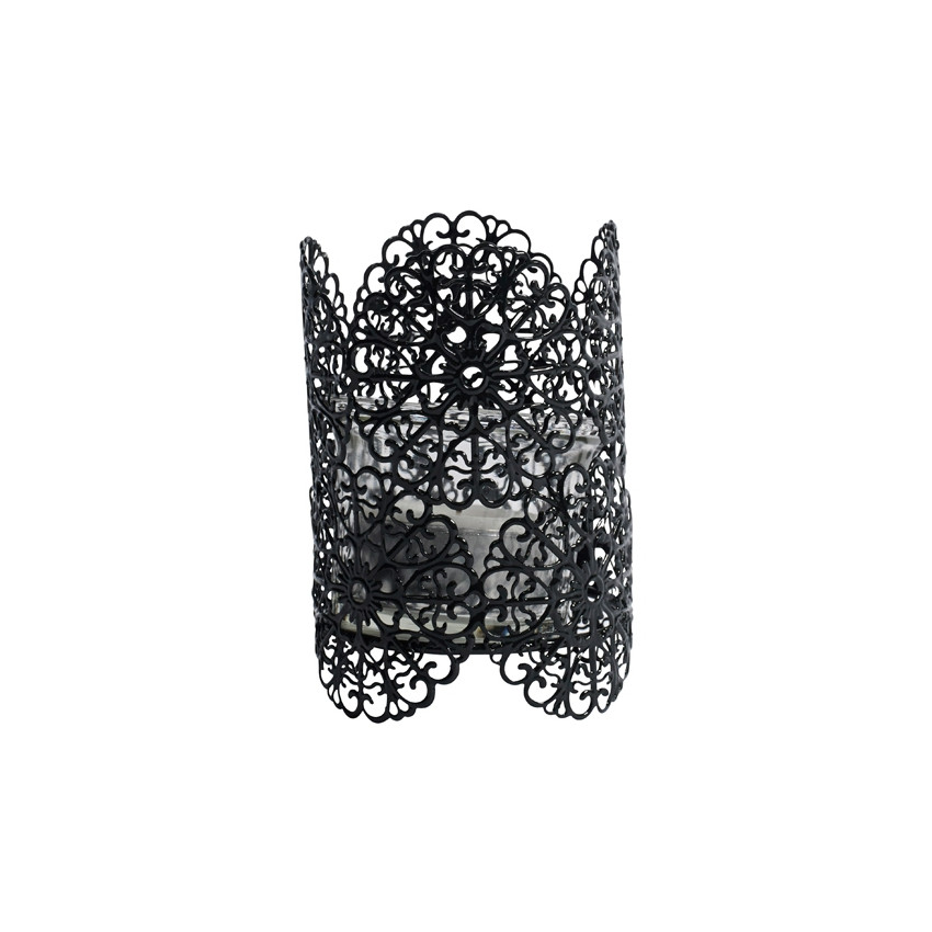 Photophore dentelle noir