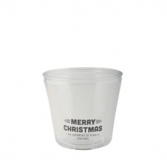 Pot en verre Merry Christmas