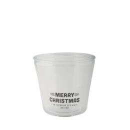 Pot en verre Merry Christmas