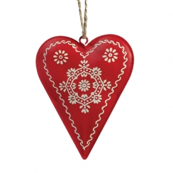 Coeur métal peint rouge  par . Scrapbooking et loisirs créatifs. Livraison rapide et cadeau dans chaque commande.