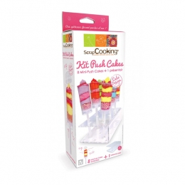 PROMO de -50% sur Kit 8 mini push cakes et présentoir Scrapcooking