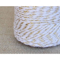 Twine blanche et or