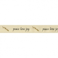 PROMO de -30% sur Lot de Ruban de coton peace love joy May Arts