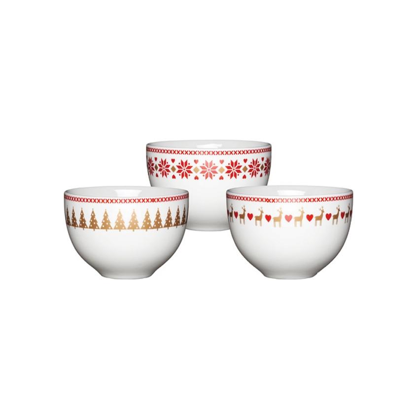 PROMO de -25% sur Mini bols de noël Kitchen Crafts