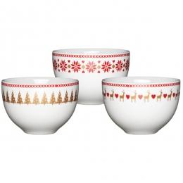 PROMO de -30% sur Mini bols de noël Kitchen Crafts