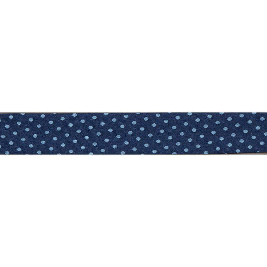 Biais Frou-Frou Collection Bleu intense à pois bleu clair