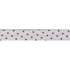 Biais Frou-Frou Collection Prune délicate à étoiles violet foncé