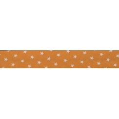 PROMO de -70% sur Lot de Biais Frou-Frou Collection Douceur mandarine à étoiles orange clair Paritys