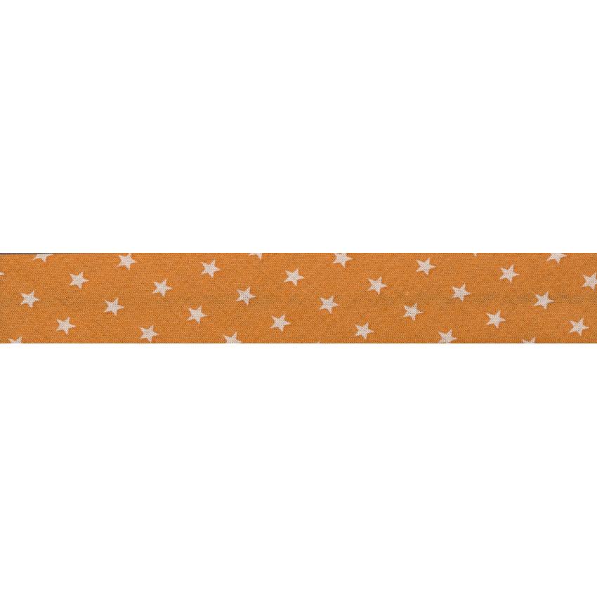 Biais Frou-Frou Collection Douceur mandarine à étoiles orange clair