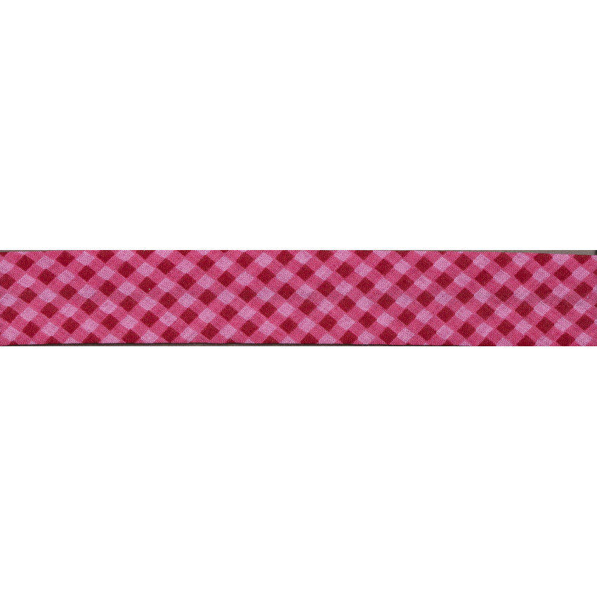Biais Frou-Frou Collection Rubis éclatant Vichy rouge
