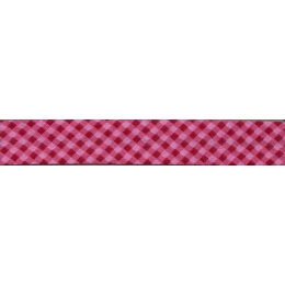 PROMO de -70% sur Lot de Biais Frou-Frou Collection Rubis éclatant Vichy rouge Paritys