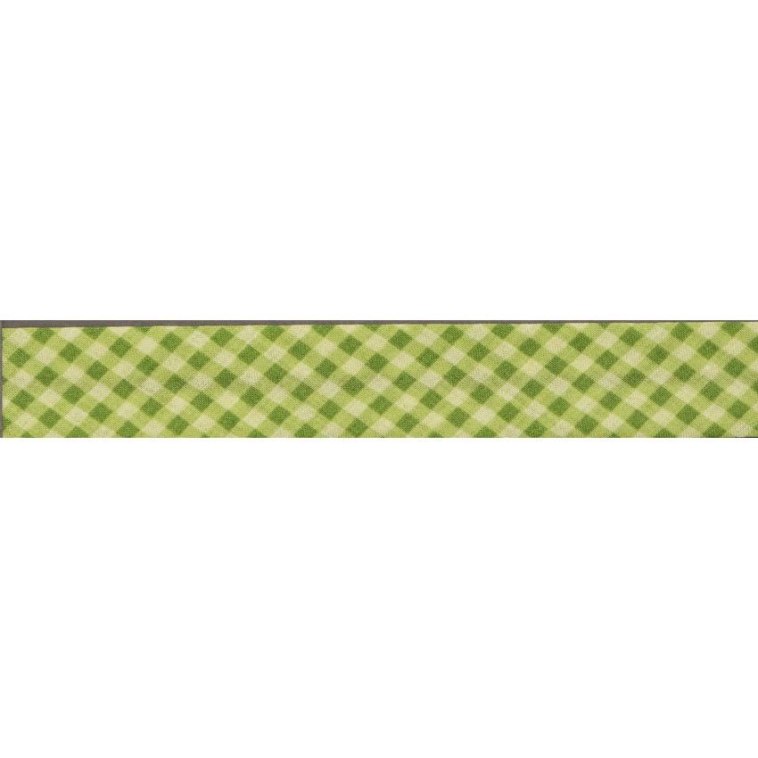 PROMO de -70% sur Lot de Biais Frou-Frou Collection Jardin d'oliviers Vichy vert Paritys