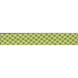 Biais Frou-Frou Collection Jardin d'oliviers Vichy vert