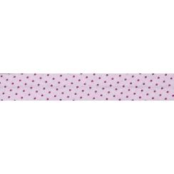 PROMO de -70% sur Lot de Biais Frou-Frou Collection Camélia à pois rose foncé Paritys