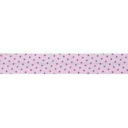 Biais Frou-Frou Collection Camélia à pois rose foncé