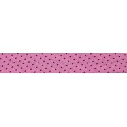 Biais Frou-Frou Collection Rubis éclatant à pois rouge foncé