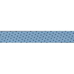 Biais Frou-Frou Collection Bleu intense à pois bleu foncé