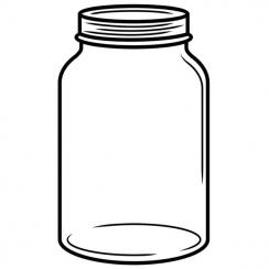 Plaque de gaufrage MASON JAR