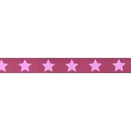 Ruban Frou-Frou gros grain Camélia à étoiles rose clair par Paritys. Scrapbooking et loisirs créatifs. Livraison rapide et ca...