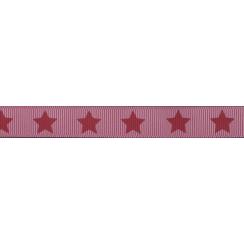 Parfait pour créer : Ruban Frou-Frou gros grain Rubis éclatant à étoiles rouge foncé par Paritys. Livraison rapide et cadeau ...