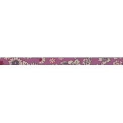Lot de Biais Frou-Frou replié double fleuri crème/fond rose par Paritys. Scrapbooking et loisirs créatifs. Livraison rapide e...