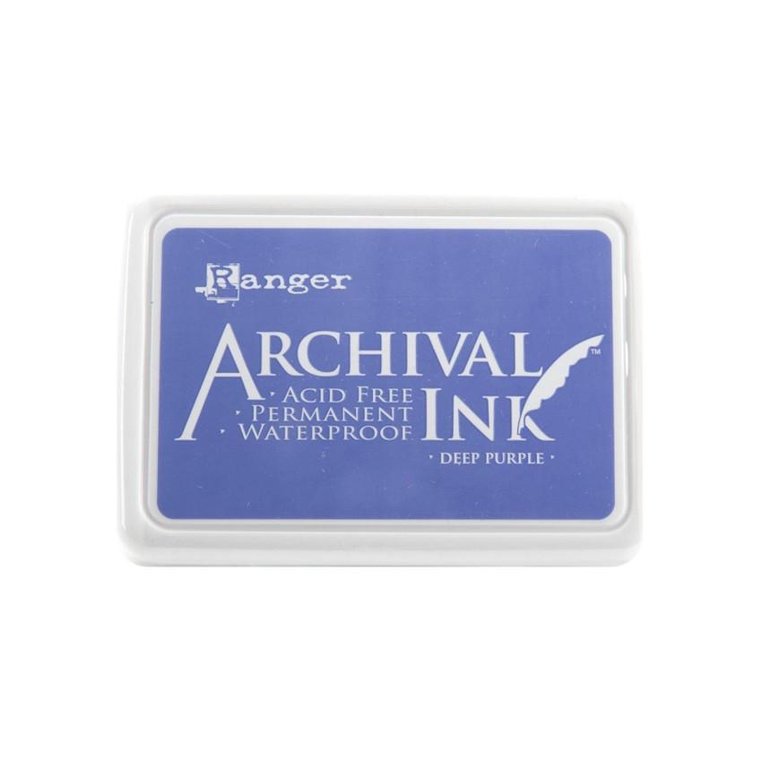 Encre Archival DEEP PURPLE par Ranger. Scrapbooking et loisirs créatifs. Livraison rapide et cadeau dans chaque commande.
