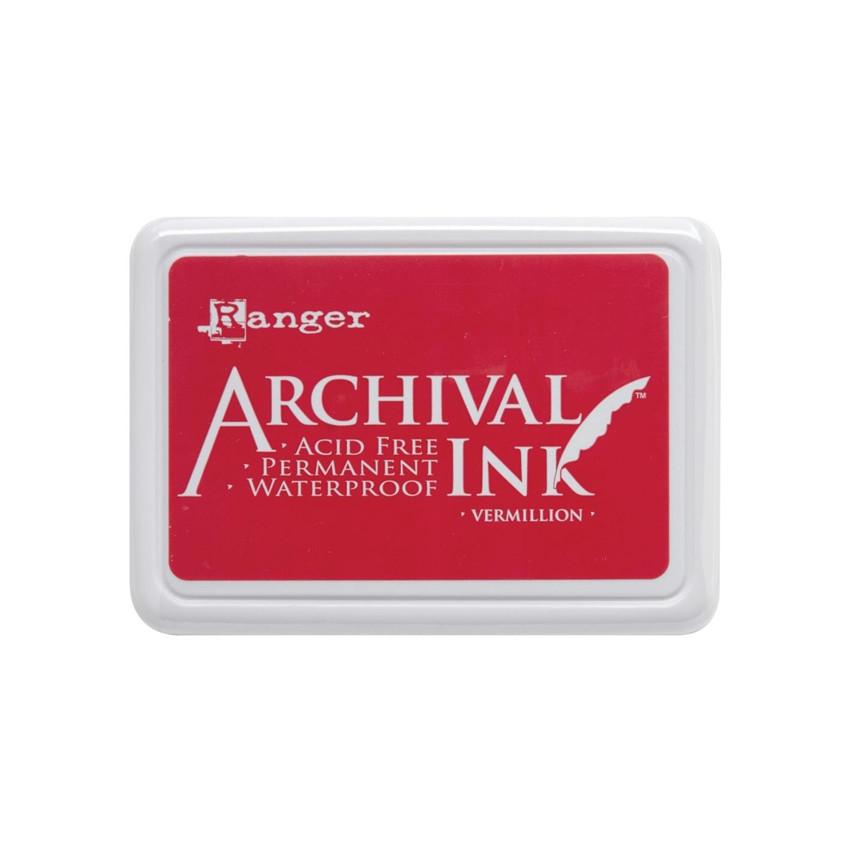 Encre Archival VERMILLION par Ranger. Scrapbooking et loisirs créatifs. Livraison rapide et cadeau dans chaque commande.