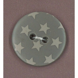Bouton Frou-Frou Taupe à étoiles gris clair