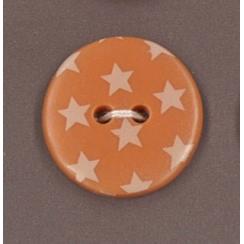 Bouton Frou-Frou Douceur mandarine à étoiles jaune clair