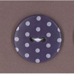 Bouton Frou-Frou Prune délicate à pois violet clair