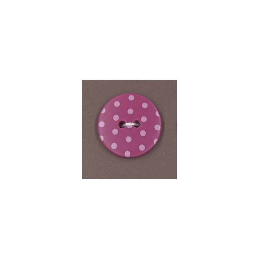 Bouton Frou-Frou Camélia à pois rose pâle