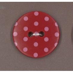 PROMO de -70% sur Bouton Rubis éclatant à pois rouge clair Paritys